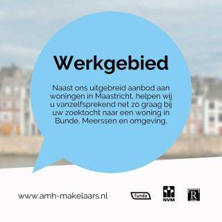 Naast ons uitgebreid aanbod aan woningen in Maastricht, helpen wij u vanzelfsprekend net zo graag bij uw zoektocht naar een woning in Bunde, Meerssen en omgeving. Als u hier niet uw droomhuis vindt kunt u zich altijd gratis inschrijven voor een zoekopdracht. Zodra wij een woning vinden die aan uw wensen voldoet, of zodra er iets nieuws bij ons in de verkoop komt binnen uw wensen nemen wij direct contact met u op!www.amh-makelaars.nl